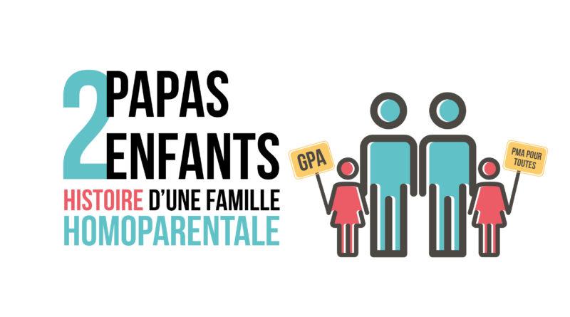 2 papas, 2 enfants. Histoire d'une famille homoparentale